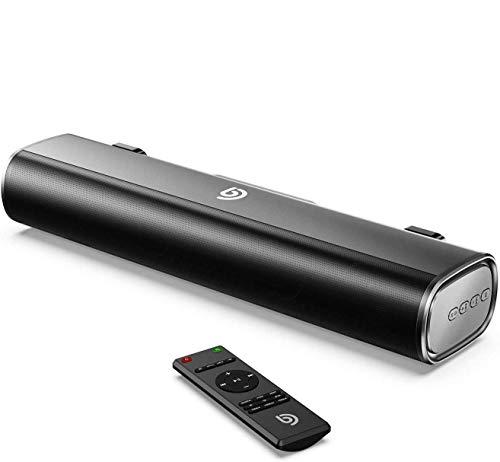 Bomaker Mini Soundbar Bluetooth 5.0 Wireless, 16'' con Tecnologia DSP, Supporta Ottico/AUX/USB/3 Modalità EQ, Ideale per PC/TV/PS4, Montaggio a Parate