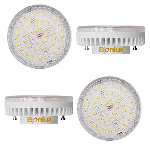 Bonlux GX53 LED Lampadine 9W Bianco Caldo 3000K 1000LM 80W 100W Ricambio ad Incandescenza Non-dimmerabile 220-240V 180 Angolo del fascio luminoso (Confezione da 4)