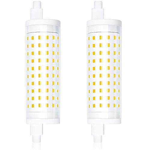 Bonlux R7s 118mm LED Dimmerabile 15W Bianco Calda 3000K, Sostituire 150W J118 Lampada a Doppio Effetto Lineare R7s Alogena J-Type Lampadina di Sicurezza Lampada da Parete per Corridoio(2-Pacco)