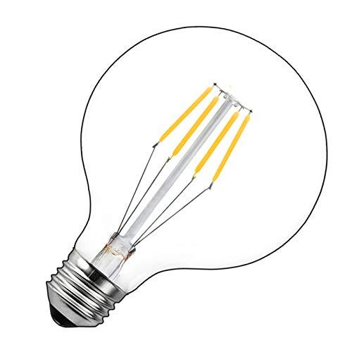 Bonlux Vintage Edison Globo Lampadina a LED 4W E27 G125 Dimmerabile Filamento Lampada Luce Calda 2700K Lampada Decorativa Classico, Equivalenti a 40W Incandescent Lampadina