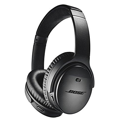 Bose QuietComfort 35 II Cuffie Wireless/con cavo, 3 livelli di riduzione del rumore, Bose Connect App, con Alexa Integrata, Nero