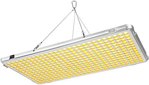 Bozily Lampada per Piante, Lampada Piante Coltivazione LED Spettro Completo 300W, Lampada per Piante Indoor con 338 LED, Nessun Rumore, per Semina, Crescita, Fioritura e Fruttificazione,56x30x1,8 cm