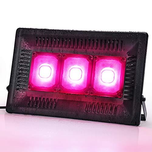 Bozily Lampada per Piante LED IP67 Impermeabile 450W COB, Spettro Completo Coltivazione Crescita, Coltiva la Luce d'Appartamento, Serra, Coltura Idroponica, Giardini all'Aperto (450)