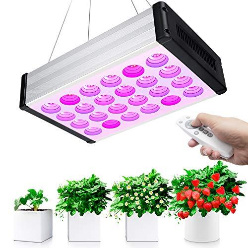Bozily Lampade per Piante, 1000W Lampada LED Coltivazione Indoor Spettro Completo Lampade con Telecomando, Dimmerabile, 6/12/18H Timer, 168 LEDs Lampada Piante per Crescita Fioritura e Fruttificazione