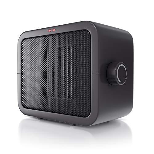 Brandson – Termoventilatore ceramico compatto – Potente 1500 watt – Con termostato – Silenzioso – Salvaspazio - Stufetta a 2 velocitá piú funzione ventola