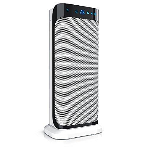 Brandson - Termoventilatore con telecomando - Stufetta ceramica con funzione di oscillazione - 2x livelli di riscaldamento - Timer - Termostato digitale - 2000W - Silence