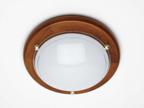 Brilliant 90181/35 Fidschi - Lampada da parete e da soffitto, colore: Rovere