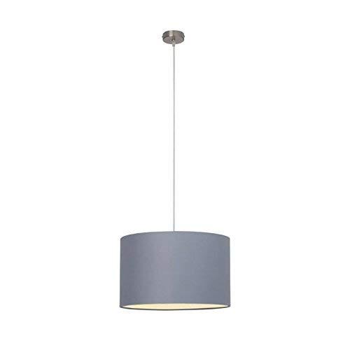 BRILLIANT AG 93374/22, lampada a sospensione, in metallo e tessuto, 60 W, E27, colore grigio