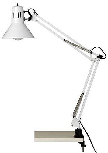 Brilliant - Lampada da scrivania a pinza HOBBY, colore: bianco