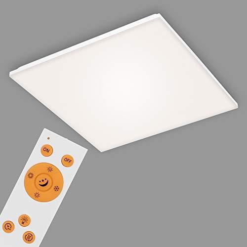 Briloner Leuchten Pannello, Lampada a soffitto LED dimmerabile, Senza Cornice, Controllo della Temperatura di Colore, incl. Telecomando, 38 Watt, 3.800 Lumen, Bianc