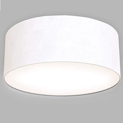 Briloner Leuchten - Plafoniera a LED, in tessuto, 1350 lumen, 3000 K, colore: Bianco