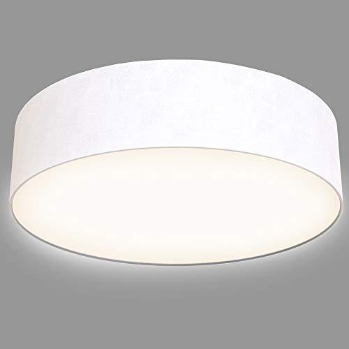 Briloner Leuchten - Plafoniera a LED, in tessuto, 1600 lumen, 3000 K, colore: Bianco