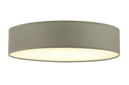 Briloner Leuchten Plafoniera da soffitto con Paralume in Tessuto – Ideale per Soggiorno e Camera da Letto – Compatibile con 3 lampadine E14 Max. 40 WA, Talpa, diametro 40 cm