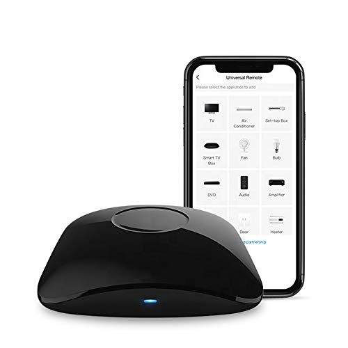Broad-LINK RM4 PRO - Interruttore della luce WLAN, Smart Home Alexa, telecomando WiFi con funzione timing, protezione da sovraccarico per iOS e Android, colore: Nero