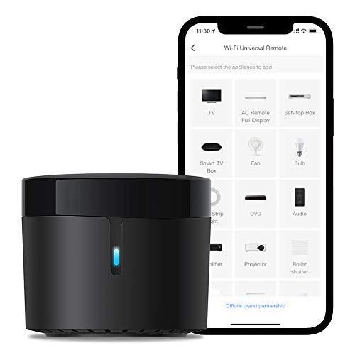 Broadlink - RM4 Mini - Telecomando universale IR audio/video, hub remoto WiFi per la casa intelligente, compatibile con Alexa (RM4 mini)