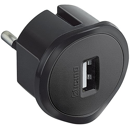 BTicino S3625GU Adattatore con Presa USB per Tutti Gli Standard di Prese, 1.5A, 250 V, Nero