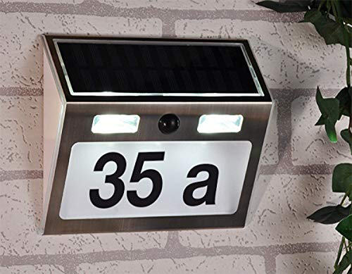 buvtec solare numero civico con illuminazione Standby e rilevatore di movimento