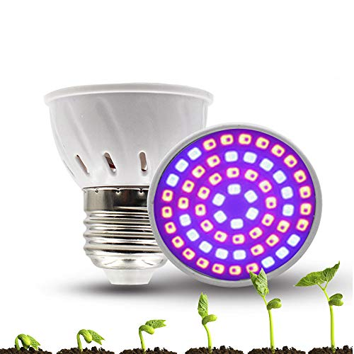 Bweele Lampadina a LED per Piante a Spettro Completo, LED Grow Light Lampada per Piante a Crescita vegetale Crescita Lampade per Piante Crescita Daylight Lampada per Piante da Interno