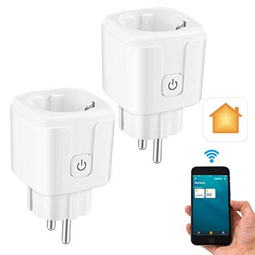 CAMPSLE Presa Intelligente WiFi Smart Plug 16A, Funzione Timer, Smart Plug, Presa WiFi 16A Funziona con dispositivi Smart Home, Prese Wireless con Funzione Timer Controllo Remoto Vocale