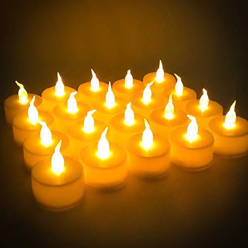 Candele a LED Candele Senza Fiamma Set di 24, Flameless LED lumini batteria lumini decorativa, per Natale Matrimonio Casa Decorazioni, Feste, Compleanni, Valentino
