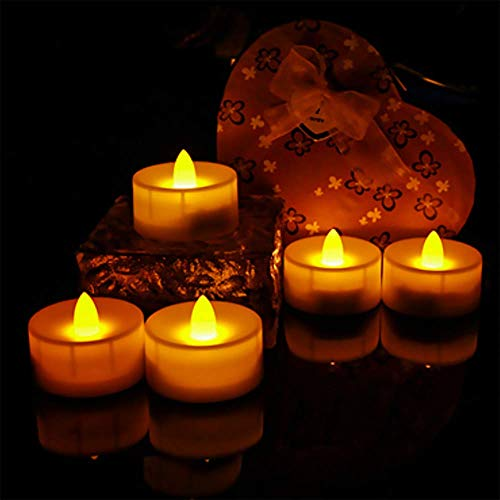 Candele LED a batteria, senza fiamma, confezione da 6 pezzi | lumini LED con telecomando | tremolanti candele tealight con timer