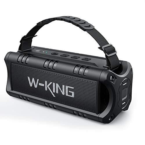 Cassa Bluetooth, W-KING 30W Altoparlante Speaker Bluetooth Portatile 24 Ore di Riproduzione, 5000 mAh Batteria, Impermeabile Casse Bluetooth con TWS, NFC, TF Card e USB
