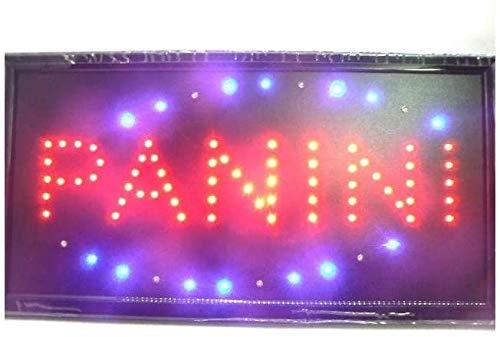 CCB Insegna Luminosa Panini con LED Lampeggianti 48X25X2 cm