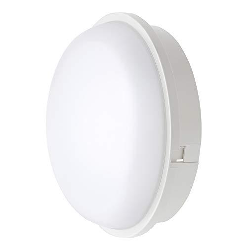 Chestele Lampada da Parete LED Plafoniera Soffitto Moderna Impermeabile Rotonda 20W 3000K IP65 Illuminazione Per Esterni e Interni - Bianco