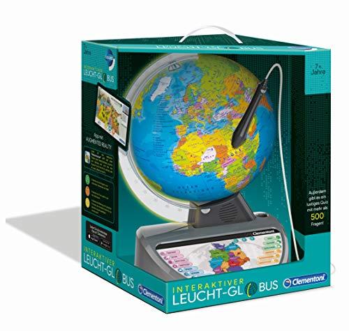 Clementoni 59183 Galileo Science - Mappamondo Luminoso interattivo, Globo terrestre parlante con Domande e Fatti, Giocattolo educativo per Bambini dai 7 Anni in su, Giocattolo educativo