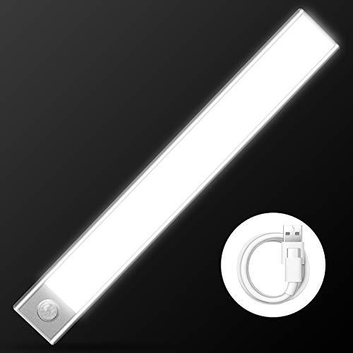 Cobiz Luci Led Per Armadio - Aggiornato 70 Led Guardaroba Luci Led Super Luminoso Luce Per Armadio A Led Intelligente Ricaricabile Usb Wireless Con Rilevatore Di Movimento | 6000k (scheggia)