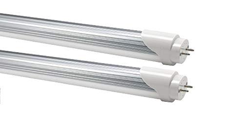 Confezione da 2 tubi luminosi a LED [inutilità] lunghezza 72 cm colore 3200 K Opak Cover T8 Attacco G13 Purezza colore CRI > 80
