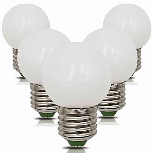 Confezione da 5 lampadine a LED E27, dimmerabili, 4 W, sostituisce 35 W, 40 W, bianco caldo, 220 V, 230 V, 2700 K, 360 lumen, per la casa, il soggiorno, il ristorante, piccola lampada G45