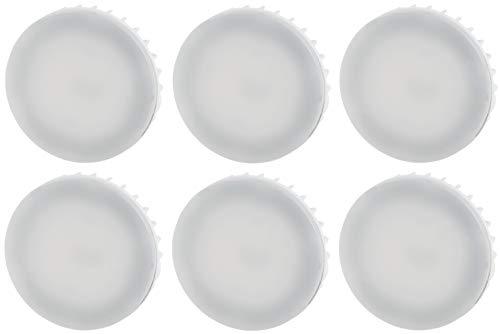 Confezione da 6 lampadine LED GX53 – 8 Watt – 800 Lumen – CRI 80Ra – Antiriflesso – Angolo di irradiazione 120° – Bianco caldo (3000 K)