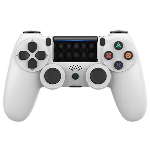 Controller PS4, VINSIC Wireless Joystick Playstation 4, Controller di Gioco Senza Fili con Joypad del Dualshock per PS4 Slim/PRO And PC (Bianca)