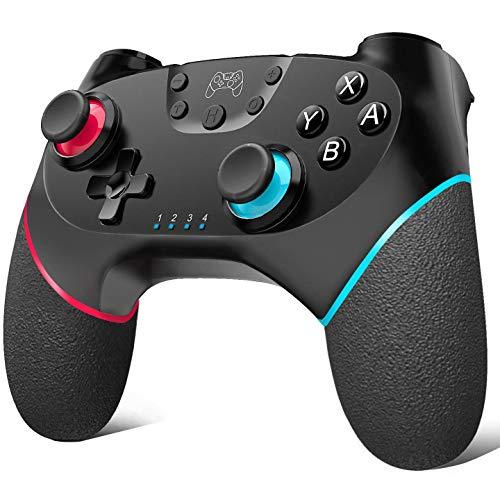 Controller wireless per Nintendo Switch, Bluetooth Wireless Pro Controller per Nintendo Switch, tempo di gioco, switch, controller remote, Gamepad con Turbo Dual Shock Joysticks.