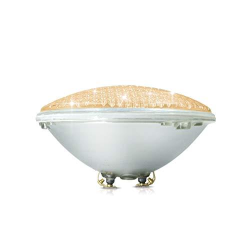 COOLWEST Luci per piscina LED Illuminazione per piscine 36W PAR56 Bianco caldo 3000K Luce subacquea, 12V Impermeabile IP68, Sostituire le lampadine alogene 300W