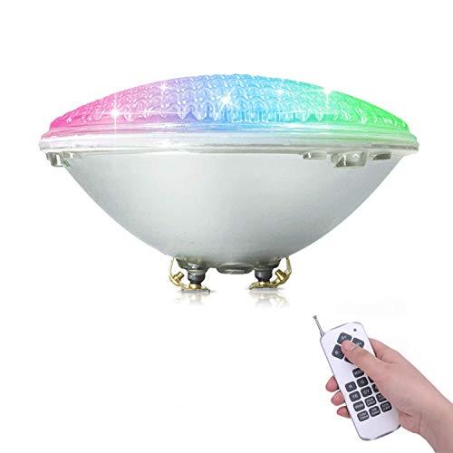 COOLWEST RGB Luci per piscina LED Luci da piscina 36W PAR56 Illuminazione subacquea con Telecomando, 12V Impermeabile IP68, Sostituire le lampadine alogene 250W