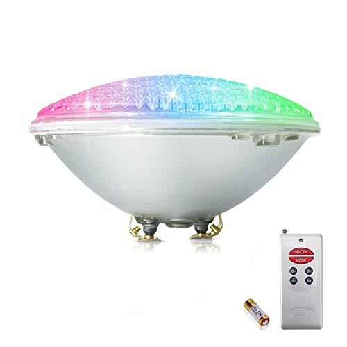 COOLWEST RGB Luci per Piscina LED Luci da Piscine 36W PAR56 Illuminazione Subacquea con Telecomando, 12V Impermeabile IP68, Sostituire Le lampadine alogene 250W