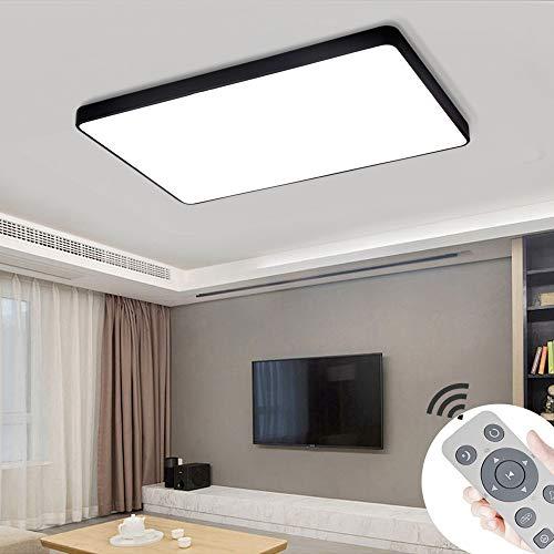 COOSNUG Plafoniera a LED 72W Lampada da soffitto quadrata nera dimmerabile Lampada da camera da letto per soggiorno (3000-6500K) [Classe energetica A ++]
