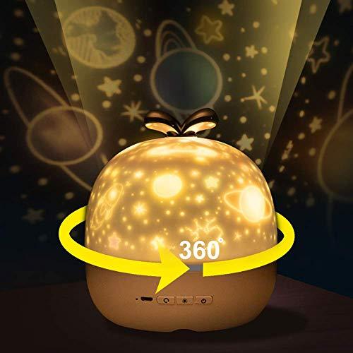 CoPedvic LED Luce Proiettore lampada per Bambino,360 Gradi Romantico Cielo stella Proiettore Lampada,Luce di Notte per Rilassarsi ed Addormentarsi,regalo per camera da letto,Natale, Compleanno