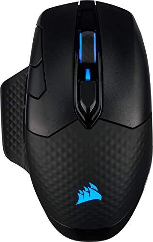 Corsair Dark Core RGB PRO, Mouse Gaming Wireless/Con Filo, Sensore Ottico da 18.000 DPI, Tecnologia Slipstream, Otto Pulsanti Programmabili, Illuminazione Dinamica Multicolore RGB, Nero, CH-9315411-EU