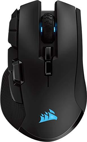 Corsair Ironclaw Wireless RGB Ricaricabile Mouse Gaming Ottico con Tecnologia Slipstream, Wireless, 18000 DPI Sensore, Retroilluminazione LED RGB, Nero