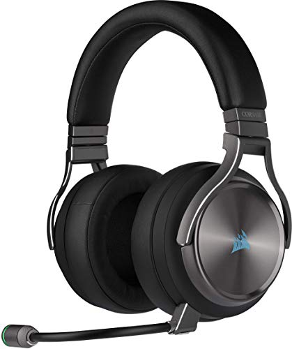Corsair Virtuoso RGB Wireless Alta Fedeltà Cuffia Gaming, 7.1 Surround Audio, Compatibili con PC e PS4, Grigio (Gunmetal)