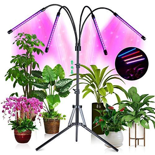 CRAZCALF 144W Lampada per Piante, 180 LED Lampada Piante Coltivazione 35 Modalità di illuminazione Grow Light Spettro Completo Crescente con Timer Automatico 3H/6H/12H e Treppiede Regolabile 32-160 cm