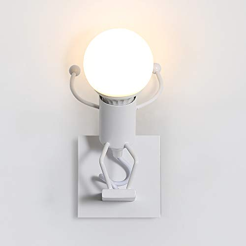 Creativo Lampada da Parete, Retro Applique da Parete,Vintage Metallo Lampada da Applique Illuminazione per Bar, Camera da Letto, Ristorante, Corridoio E27