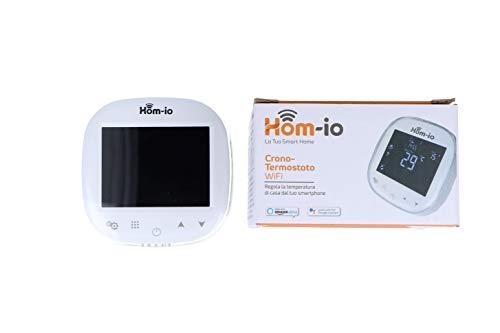 Cronotermostato smart Wi-Fi per Caldaia e Boiler a Gas, Termostato Digitale, Programmabile settimanale IN MODALITÀ 5+2, 6+1, 7, Display LCD, tasti a sfioramento, controllo vocale Alexa e Google Home