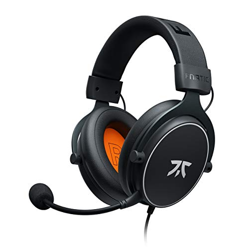 Cuffie da gioco Fnatic REACT per PS4/PC con driver da 53 mm, audio stereo e controlli in linea, di tipo Over-Ear con padiglioni in Soft Memory, per PC/Xbox One/Disposotivi Mobili/Switch/Mac
