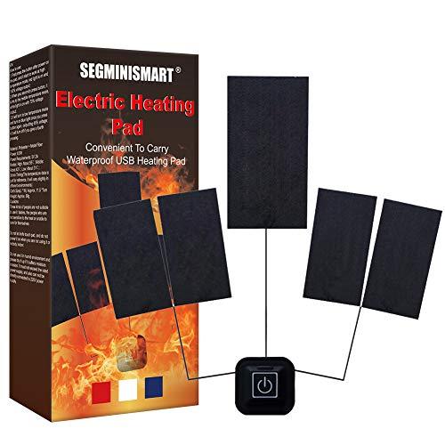 Cuscinetto riscaldante,Termoforo Elettrico,Cuscinetto Riscaldante Elettrico USB 5 in 1 per vestiti,Abbigliamento termico Giubbotto riscaldato Giacca per esterno invernale