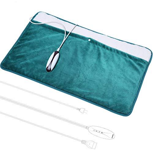 Cuscino Termico Scaldapiedi Termoforo Elettrico Dimensioni Extra Large 50 * 80cm Uso Completo per Piedi Schiena Spalle Del Calore con Spegnimento Automatico