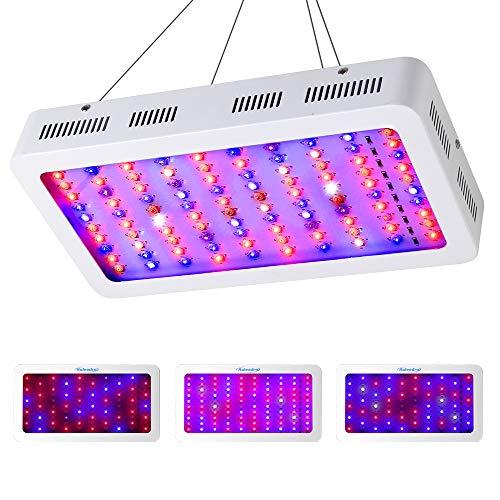 CXhome 1000W LED Coltivazione Indoor LED per Piante con Veg e Bloom Spettro Completo con UV IR 10000K Lampada Crescita Daisy Chain per Grow Box Idroponica Kit Serra Interno(100 * 10W)